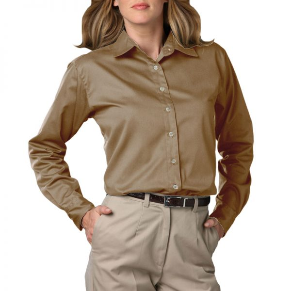 Women's Long Sleeve Oxford