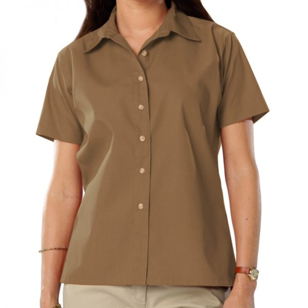 Women's Short Sleeve Oxford