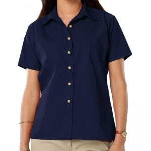 Women's Short Sleeve Oxford