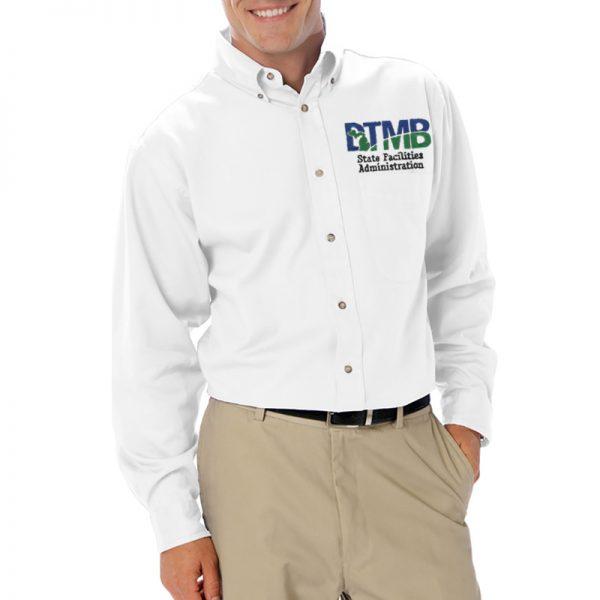 Men's Tall Long Sleeve Twill Shirt